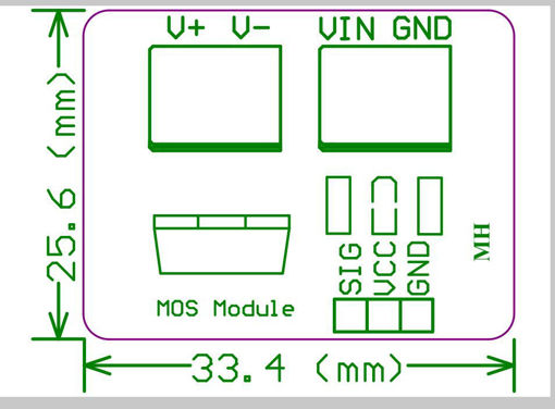 Picture of 0-24V Top Mosfet Button IRF520 MOS Driver Module For Arduino MCU ARM Raspberry Pi