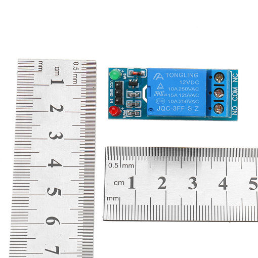 Picture of 1 Channel 12V Relay Module with Optocoupler Isolation Relay High Level Trigger For Arduino