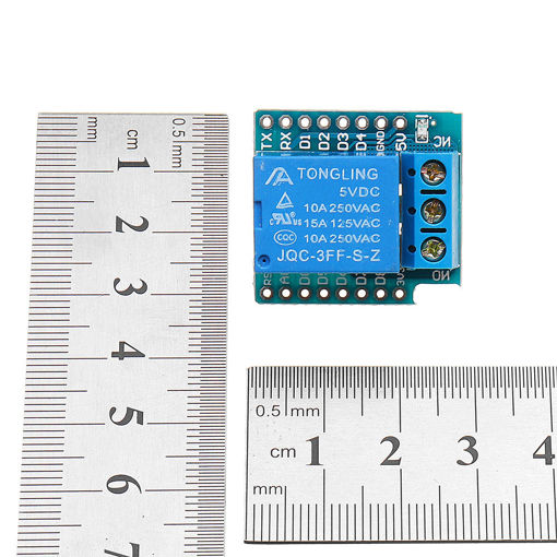 Picture of 1 Channel 5V Relay Module High Level Trigger For Mini D1 ESP8266 WiFi Module Extension Board
