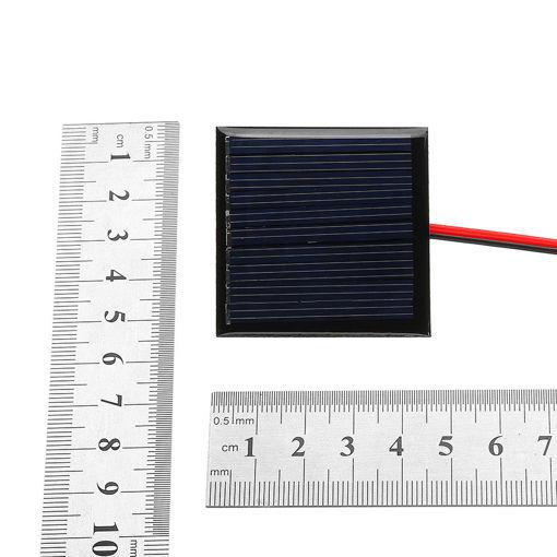 Picture of 0.25W 5V 45*45mm Mini Polysilicon Solar Panel Epoxy board with Wire