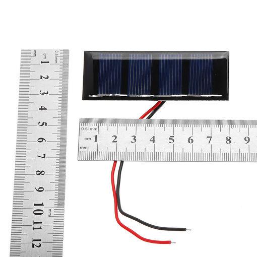 Picture of 0.2W 2V 78.8*28.3mm Mini Polycrystalline Silicon Epoxy Board  Solar Panel for DIY Part