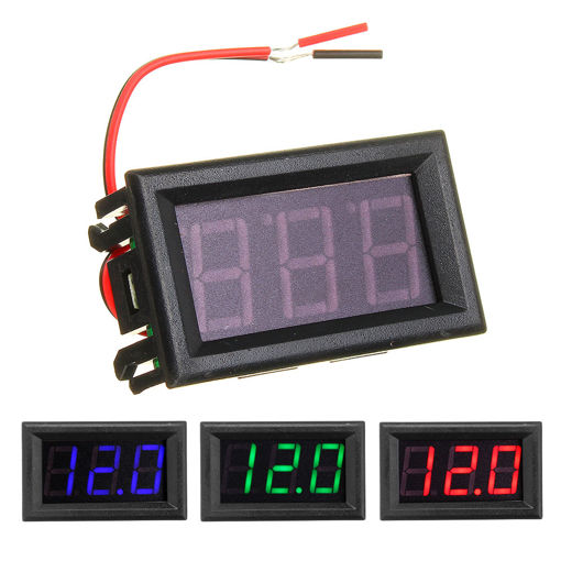 Picture of 0.56 Inch Mini Digital Voltmeter DC 4.5V To 30V Digital Voltmeter Voltage Panel Meter For 6V 12V 24V Electromobile Motorcycle Car