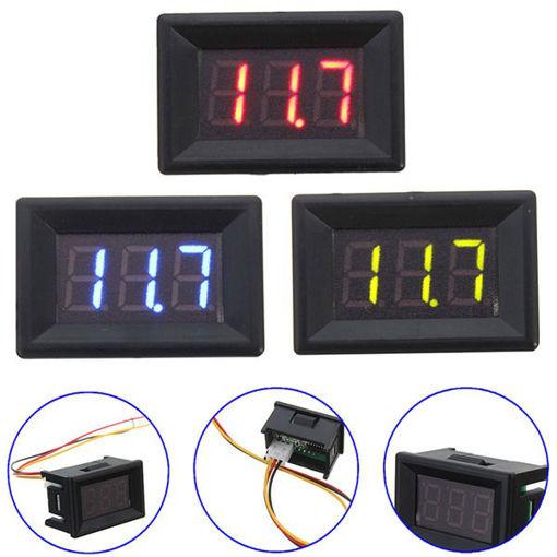 Picture of 0.36 Inch DC 0-30V 3 Wire Voltmeter LED Volt Tester Digital Display Panel