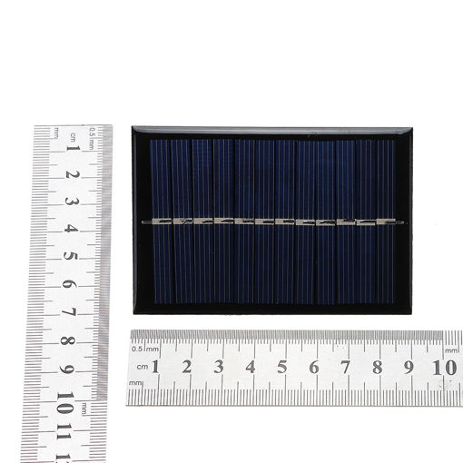 Picture of 0.6W 6V 90*60*3mm Mini Photovoltaic Epoxy Solar Panel DIY Part