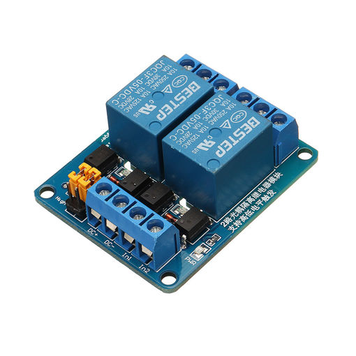 Immagine di BESTEP 2 Channel 5V Relay Module High And Low Level Trigger For Auduino