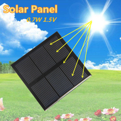 Picture of 0.7W 1.5V Mini Solar Panel With Line Rechargeable 1.2V Battery