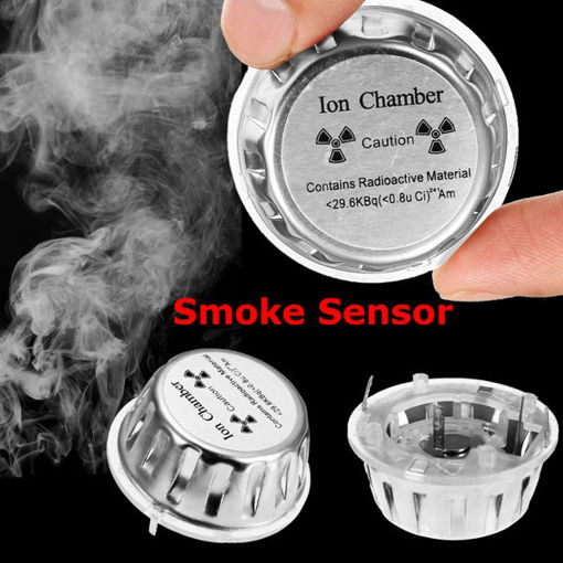 Immagine di Ion Chamber Metal Geiger Counter Check Fire Alarm Security System Source Smoke Tester Sensor