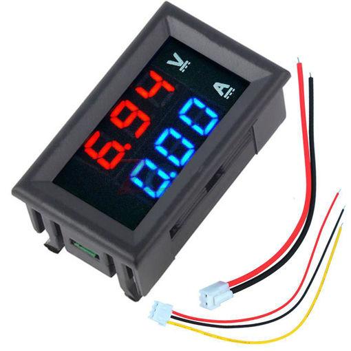 Immagine di Geekcreit Mini Digital Voltmeter Ammeter DC 100V 10A Voltmeter Current Meter Tester Blue+Red Dual LED Display