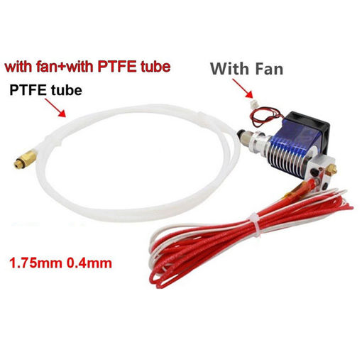 Picture of 0.4mm J-head Hotend Extruder Remote Kit Suppport 1.75mm PLA/ABS Filament with Cooling Fan + Fan Cove
