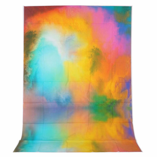 Picture of 1.5x2.1M 5x7FT Halo Color Colorful Vinyl Studio Photography Backdrop Props Background