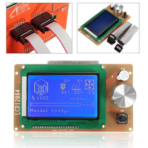 Immagine di Adjustable 12864 Display LCD 3D Printer Controller Adapter For RAMPS 1.4 Reprap