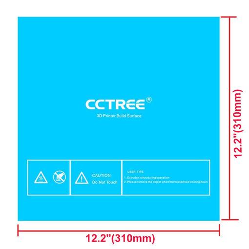 Immagine di CCTREE 3Pcs/Pack 310*310mm Blue Color Heated Bed Sticker For 3D Printer Reprap