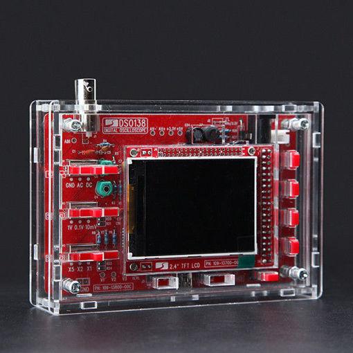 Immagine di Original JYETech DSO138 Assembled Digital Oscilloscope Module With Transparent Acrylic Housing