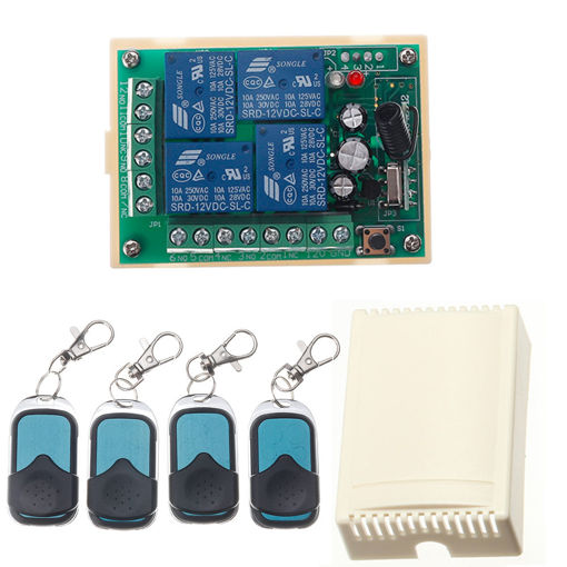 Immagine di HCS301 433MHz Rolling Code Remote Control Switch Wireless Power Supply Relay Receiver Module