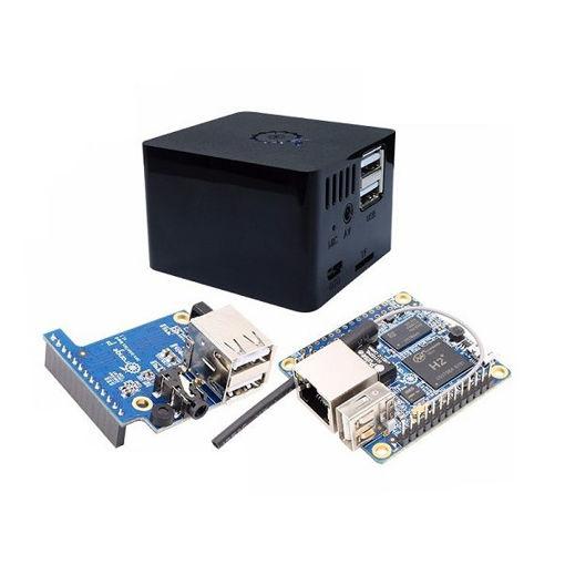 Picture of 3-in-1 Orange Pi Zero 512MB Development Board + Expansion Board + Black Case Kit