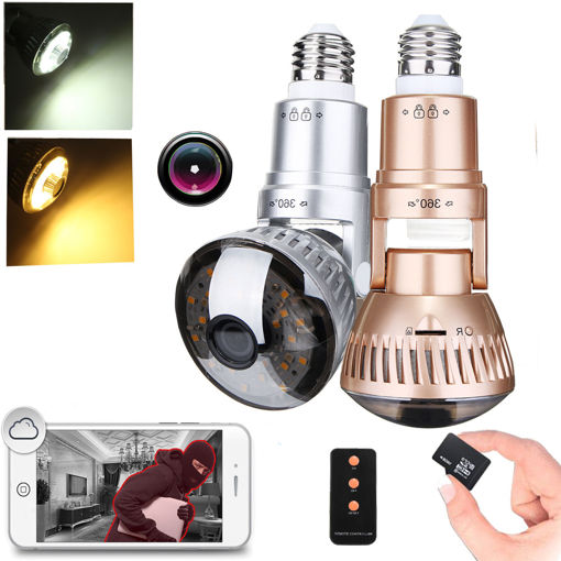 Picture of 1.3MP 960P Wireless Security Camera LED Light Bulb IP Camera Motion Detection Night Vision