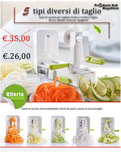 Household multifunctional five-in-one hand-operated rotary vegetable cutter spiral shredder slicer shredder vegetable cutting machine