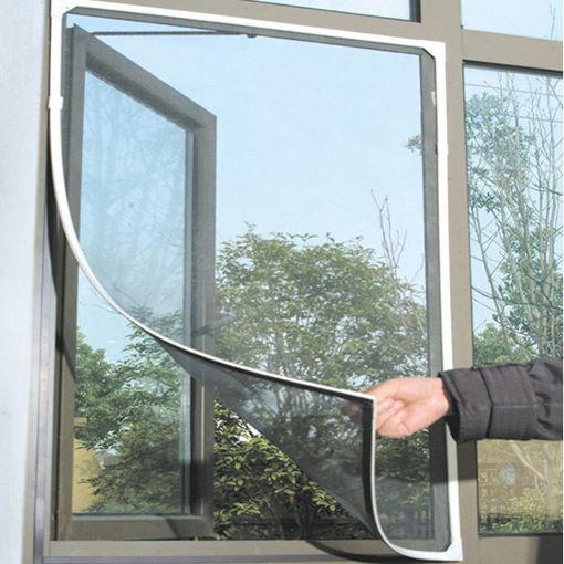 Picture of Honana WX-318 White Insect Mosquito Door Window Mesh Screen Sticky Nylon Tape Net Window Film