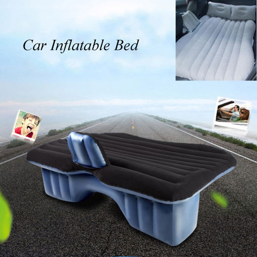 Picture of Inflatable Car SUV MPV Back Seat Mattress Air Folding Bed Rest Sleeping Camping +Pillows