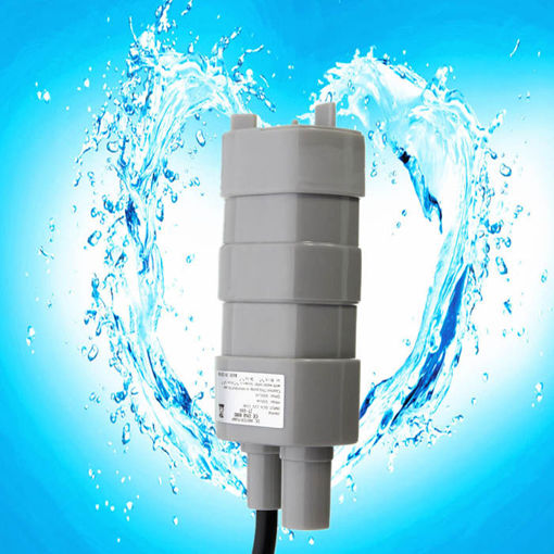 Picture of 12V 5M Pumping Head Mini Submersible Motor Garden Fountain DC Brush Water Pump
