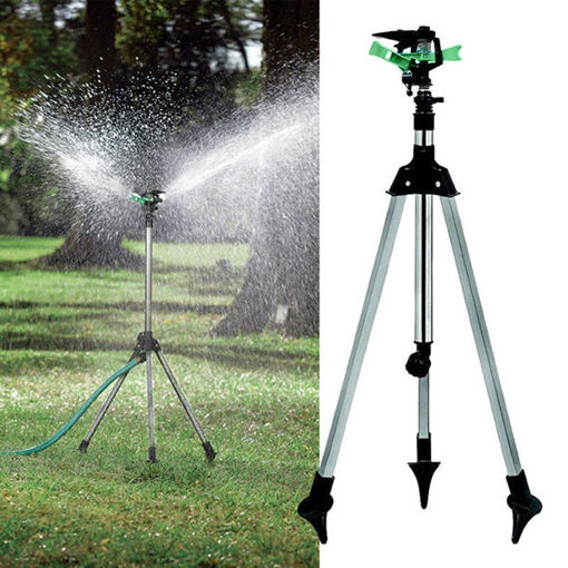 Picture of 1/2 Inch Garden Lawn Plant Watering Telescopic Tripod Sprinkler Irrigation Kits