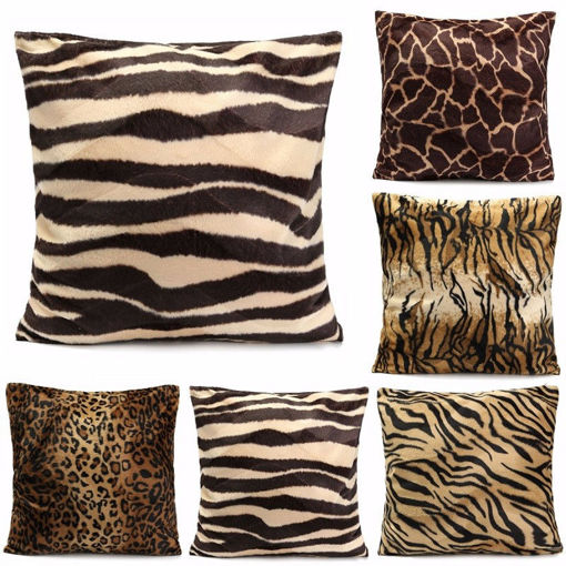 Picture of Leopard Animal Print Pattern Pillow Case Sofa Waist Throw Cushion Cover Home Decoration