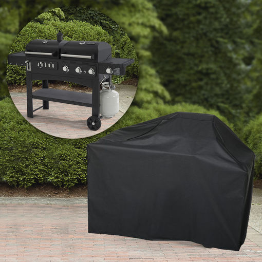 Picture of Garden Patio BBQ Cover 57Inch 600D Heavy Duty Waterproof Gas Grill Black Cover