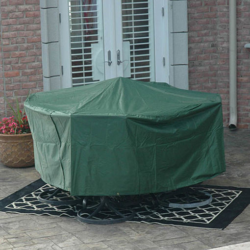 Picture of 95x140cm Garden Outdoor Furniture Waterproof Breathable Round Dust Cover Table Shelter