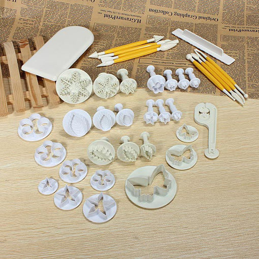 Picture of 12Sets 37PCS Fondant Cake Decorating Mold Set 04021