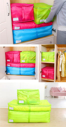 Picture of Portable Quilts Storage Bags Packing Luggage Folding Storage Box Clothes Organizer Bags Home Storage