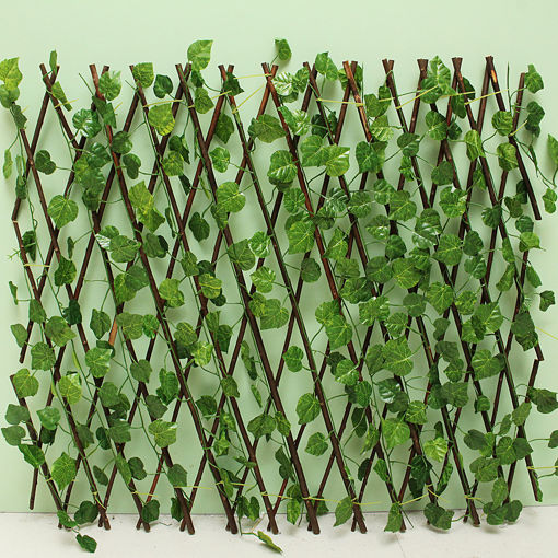 Picture of Garden Patio Yard Expandable Artificial Ivy Leaf Fence Decorations Screen