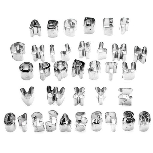 Picture of 37 Pcs Alphabet Letter Number Cake Cookie Decorating Cutter Mold Set