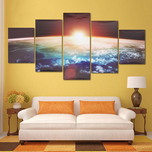 Picture of 5 Cascade Sunrise Earth Canvas Wall Painting Picture Home Decoration No Framed