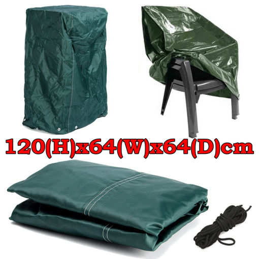 Picture of 120x64x64cm Outdoor Garden Patio Furniture Stack Chair Cover Dustproof Shelter