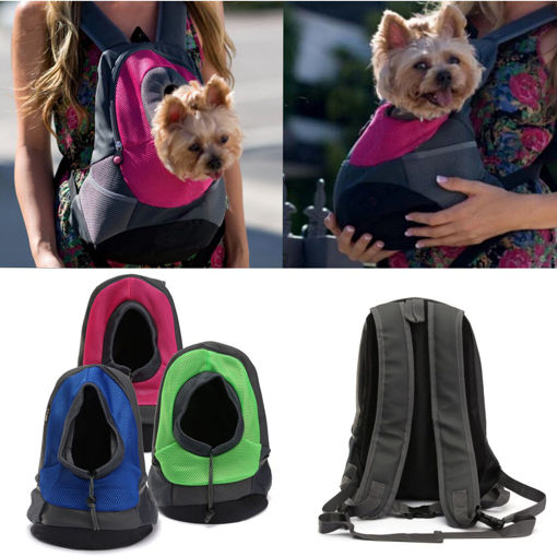 Picture of Dog Carrier Cat Puppy Mesh Pet Travel Bag Backpack Double Portable Shoulder Bag