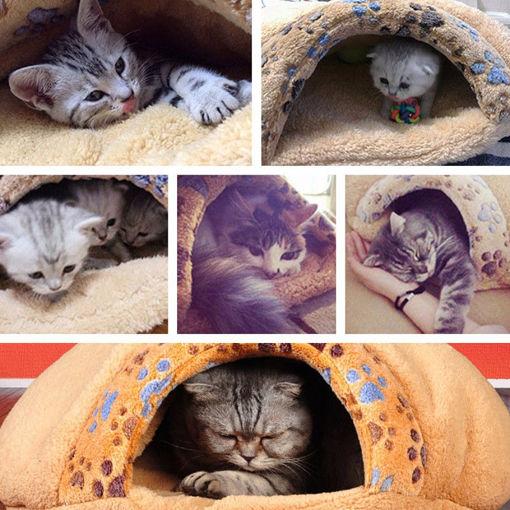 Picture of Soft Warm Cat Dog Kitten Cave Pet Mat