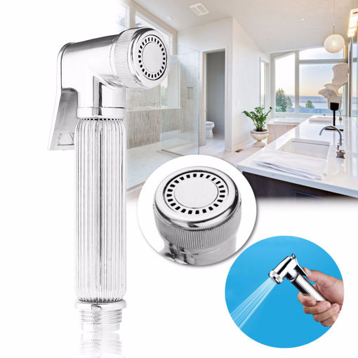 Picture of G1/2 Chrome Multifunction Hand-held Shower Head Toilet Bidet Shattaf Water Spray Wash