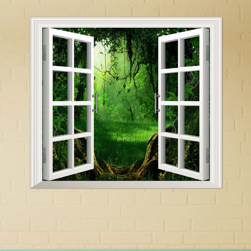 Picture of Deep Forest PAG 3D Artificial Window View 3D Wall Decals Room Stickers Home Wall Decor Gift
