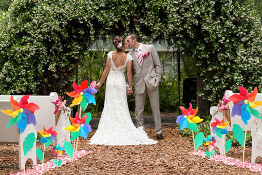 Picture of Colorful PVC Wooden Windmill Home Garden Party Wedding Decoration Kid Toy
