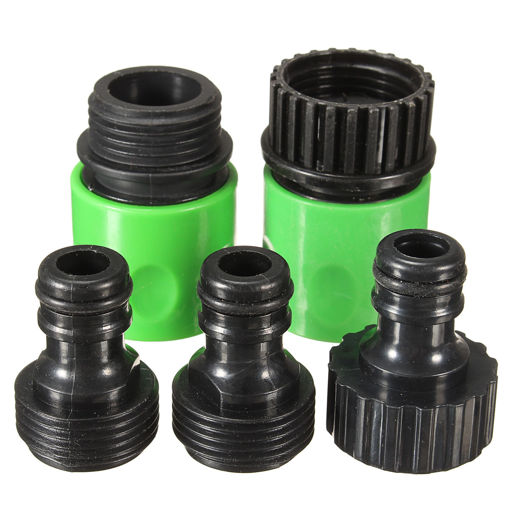 Picture of 5Pcs Rubber Hose Water Faucet Tap Adapter Rubber Nozzle Washing Pipe Quick Connector Set Kit