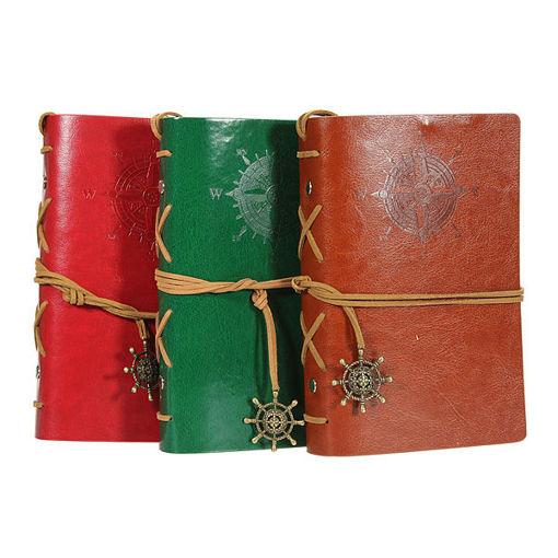 Picture of Classic Retro Vintage Leather Journal Notebook Diary Book