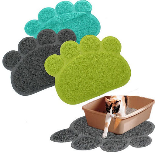 Picture of Pet Dog Puppy PVC Cat Dish Bowl Feeding Food Placemat Mat Wipe Clean