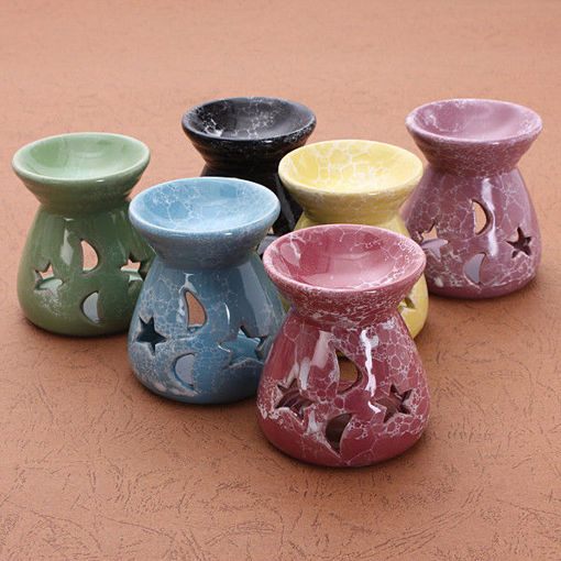 Picture of Ceramic Candle Holder Fragrance Oil Burners Lavender Aromatherapy Scent Gift
