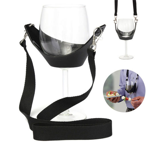 Picture of Portable Wine Glass Holder Strip Birthday Party Wine Holder Multifunction Bar Tool