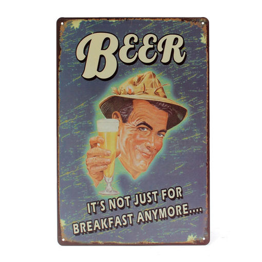 Picture of Beer Tin Sign Vintage Metal Plaque Poster Bar Pub Home Wall Decor