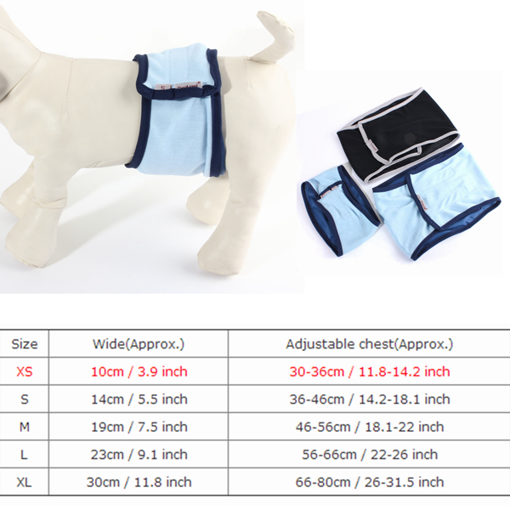 Picture of Male Dog Puppy Belly Wrap Band Toilet Training Diaper Sanitary Pants Underwear Dog Repeller