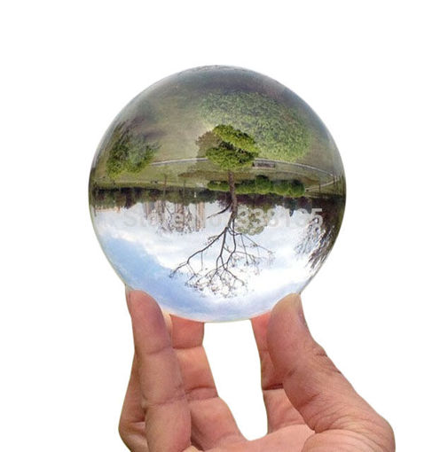 Picture of 4 Colors Rare Quartz Magic Crystal Healing Ball Clear Crystal Ball With Stand Home Decor Gift