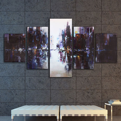 Picture of 5Pcs Abstract Modern City Canvas Print Paintings Picture Home Wall Decor Unframed