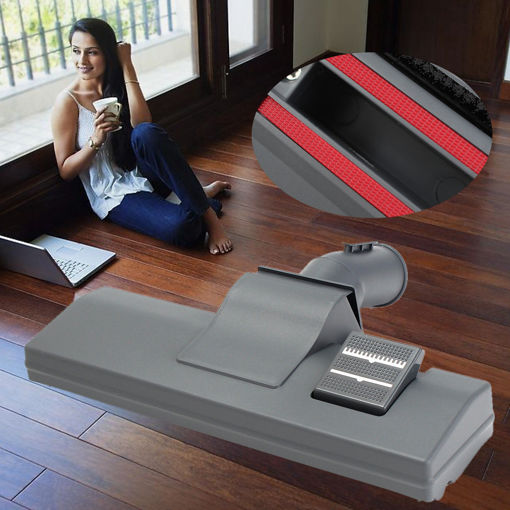 Picture of Universal Carpet Vacuum Cleaner Slim Hoover Brush Head Hard Floor Tool with Wheels 32mm