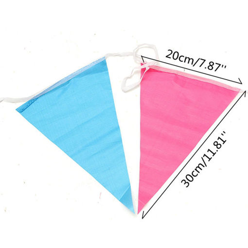 Picture of 80m Triangle Assorted Color Pennant Flags String Banner Buntings Birthday Decor